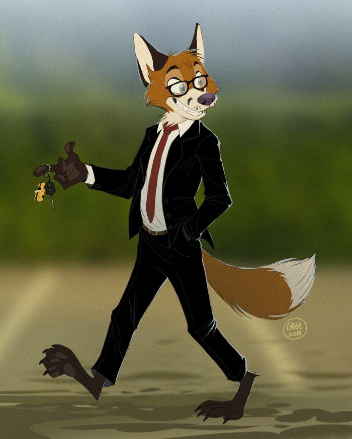 Cartooned Fox Drawing attempt 1 by FoobyFox on DeviantArt