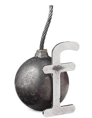 F Bomb paper weight... need this as a reminder to cut back on the spoken F Bomb