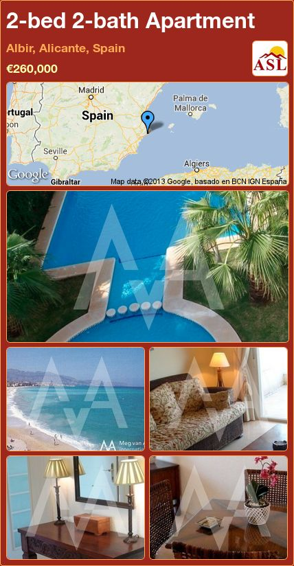 2-bed 2-bath Apartment in Albir, Alicante, Spain ►€260,000 #PropertyForSaleInSpain