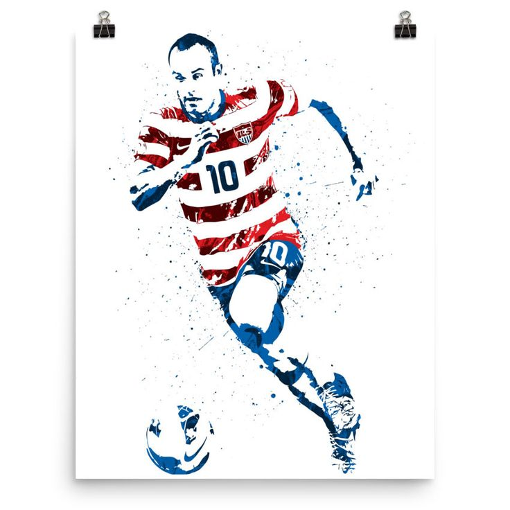 Landon Donovan USA Soccer Poster
