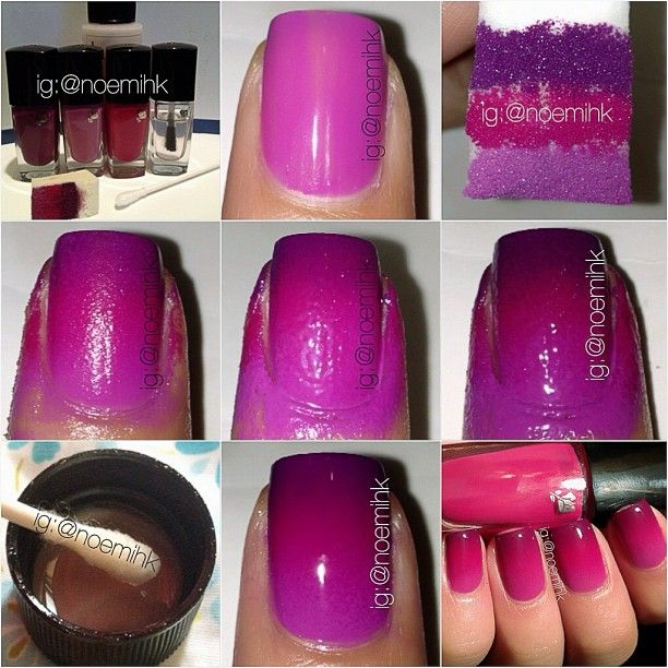 Grant Nail Art How To Do Ombre Nails Texture View Images