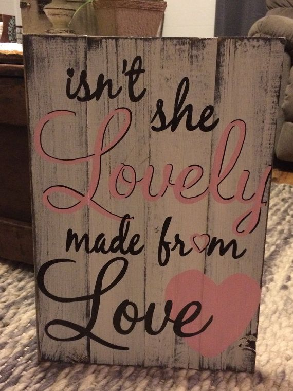 Isn't she lovely handmade pallet board sign by REFINDdesigngals