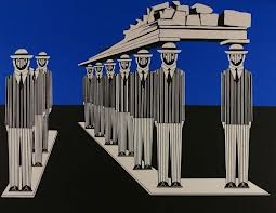 Giannis Gaitis, 1923-1984. The little men of Gaitis were a symbol of the alienation and the massification of modern man. At the pick of his glory, in the 80's, his exhibitions and installations were hosted all over the world.
