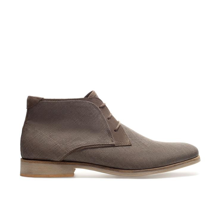CANVAS DESERT BOOT - Shoes - Man   ZARA United States