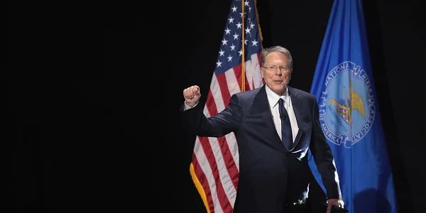 Wayne LaPierre, executive vice president and CEO of the NRA, speaks at the NRA-ILA's Leadership Forum at the 146th NRA Annual Meetings & Exhibits on April 28, 2017 in Atlanta, Georgia.