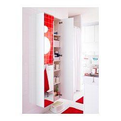 """2 fit bathroom?   LILLÅNGEN High cabinet with mirror door, white - 11 3/4x8 1/4x70 1/2 """" - IKEA"""