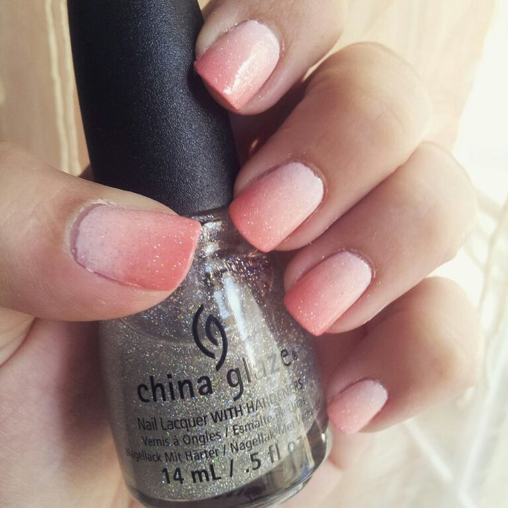 Ombre nails for today..