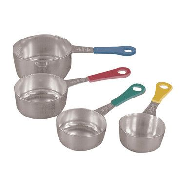 Fox Run Craftsmen Stainless Steel Measuring Cups with Colored Handle Set of 4 4839