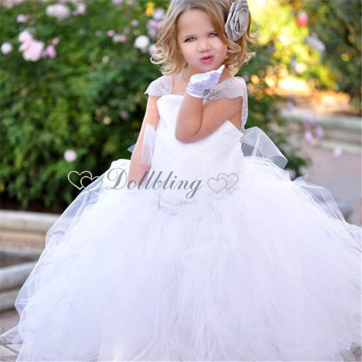 Find More Dresses Information about Dollbling Designer white First communion…