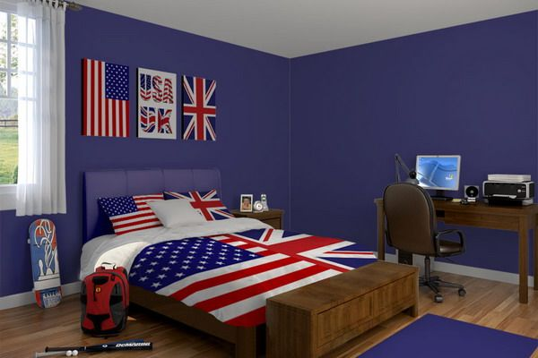 9 best bedrooms images on pinterest bedroom ideas for American flag bedroom ideas
