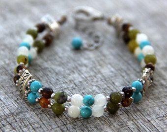 Bracelet chunky turquoise naturelle bijoux en gros par jwrayjewelry