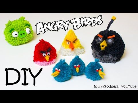Coisas que Gosto: DIY Angry Birds Toys – How To Make Angry Birds Flu...