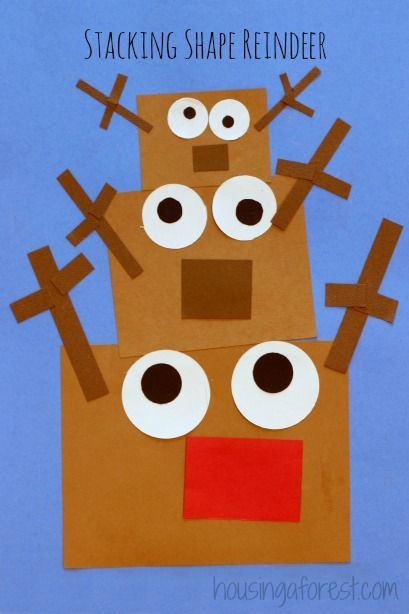 Stacking Shape Reindeer ~ Toddler Christmas Activity size concepts!