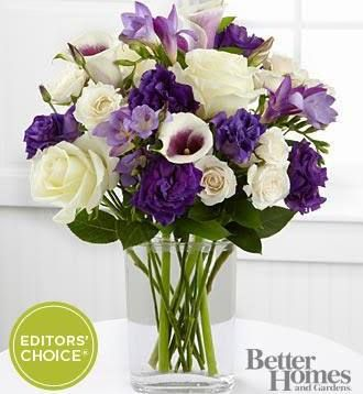 purple flower arrangements - Google Search
