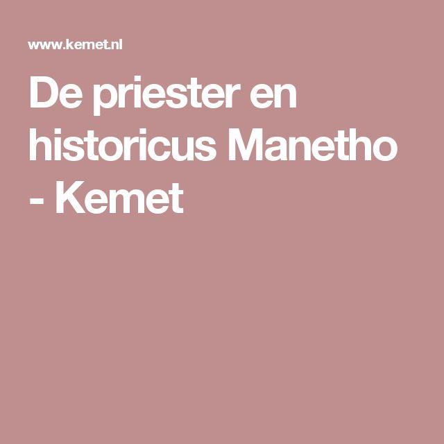 De priester en historicus Manetho - Kemet