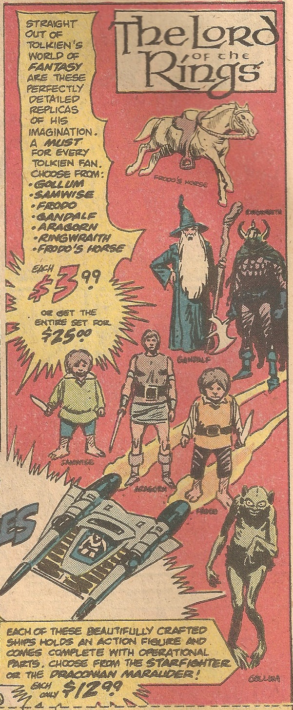 Old LOTR action figures ad
