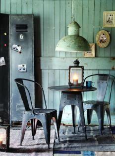 Vintage. Industrial. Comedor  www.fustaiferro.com