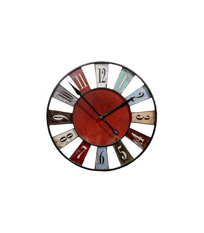 Les 11 meilleures images du tableau horloges pendules sur pinterest horloge murale tendance for Horloge murale multicolore