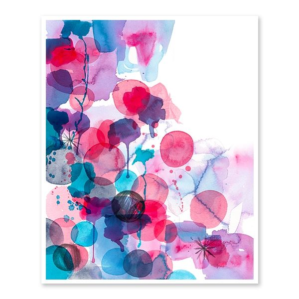 Passion watercolour collage art print