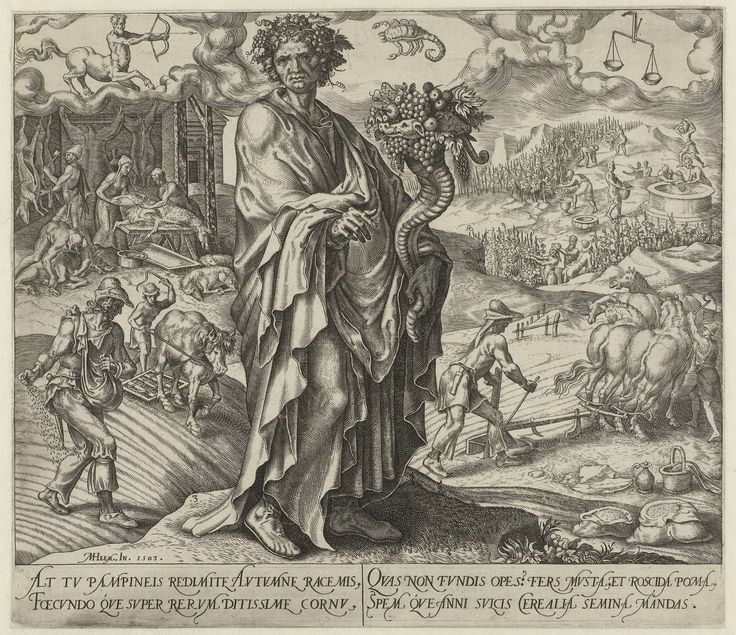 Herfst, Philips Galle, Hadrianus Junius, 1563