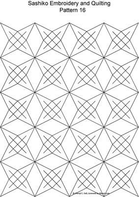 FREE Sashiko Embroidery Patterns - Set 2