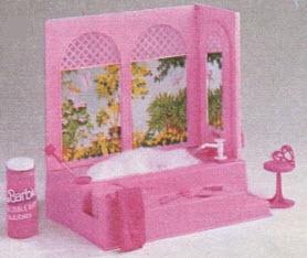 il bagno di barbie