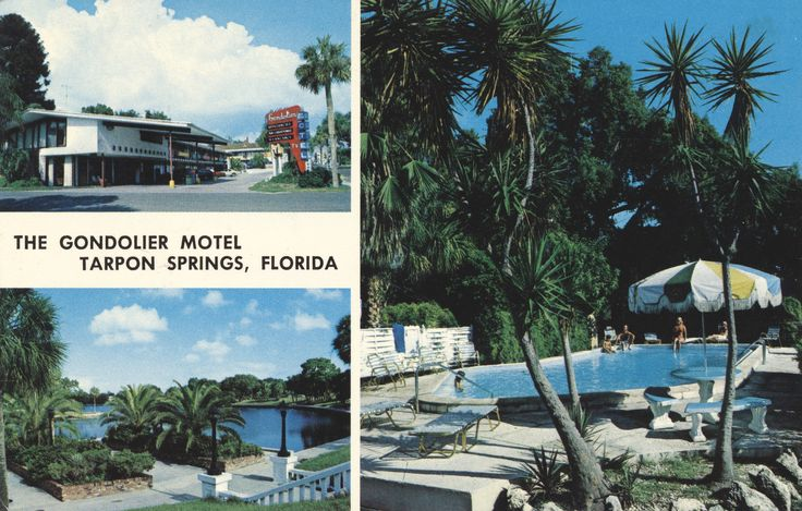 https://flic.kr/p/JbGiD4 | The Gondolier Motel - Tarpon Springs, Florida | Directly on Spring Bayou 110 W. Tarpon Ave. Tarpon Springs, Florida Downtown Tarpon Springs' Finest. 46 rooms/efficiences, direct access to Gulf of Mexico. Dock and fishing, sparkling pool, golf, tennis, Sponge Docks, excellent Greek/Seafood restaurants nearby. Congenial hosts, personalized service and reasonable rates.  Mailed from Tarpon Springs, FLorida to Mr. & Mrs. Fred Sauerwein of Vincentown, New Jersey on ...