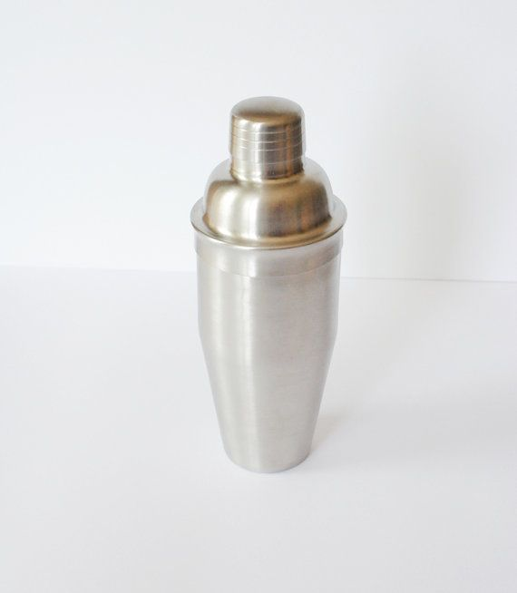 Vintage Cocktail Shaker // Stainless Steel Cocktail Mixer