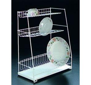 Egouttoir à vaisselle 3 étages - Métaltex - Grand egouttoir