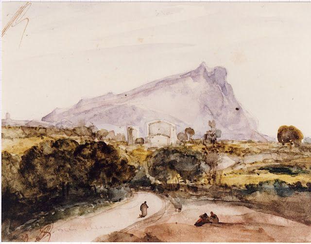The Sainte Victoire By Francois Marius Granet Sainte Victoire