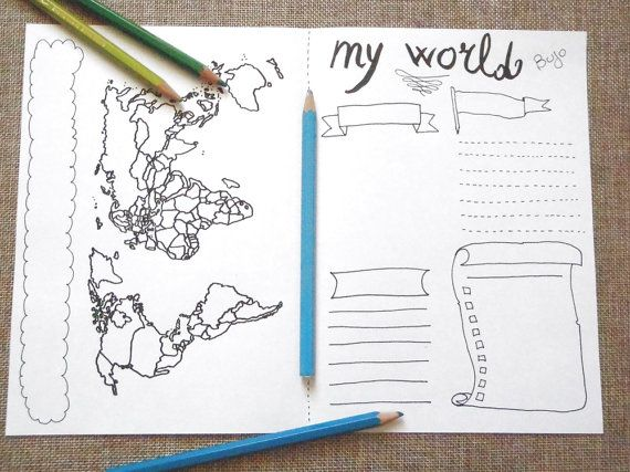 world map bujo journal monthly bujo visited places to visit sales printable plan…