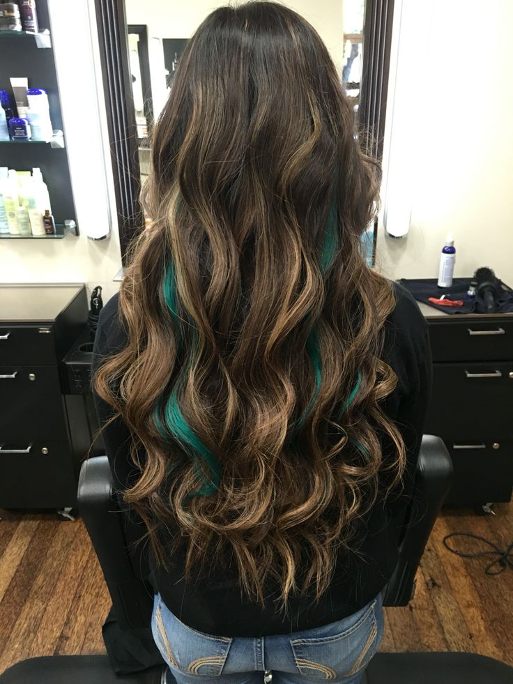 Teal peekabo highlights                                                                                                                                                                                 More