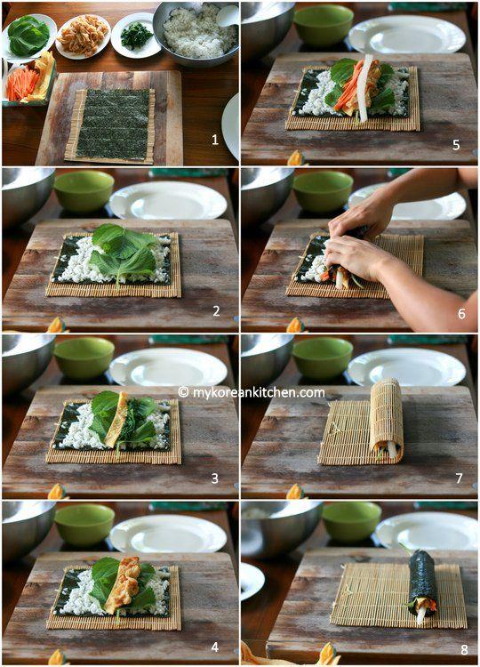 How to roll Kimbap