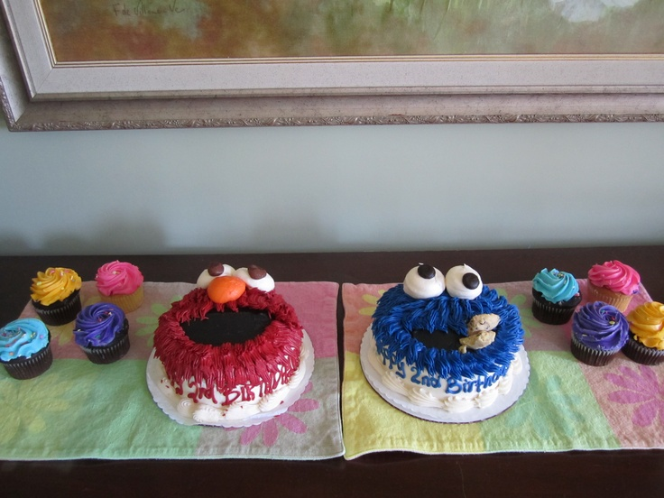 Ah, eu quero esses bolos lindos da Vila Sésamo!!!