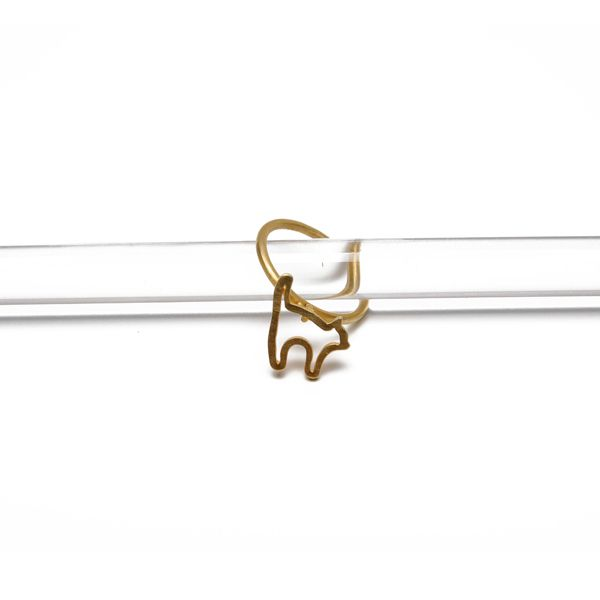 Terra Jewellery gold plated sterling silver ring for design4paws http://www.design4paws.com/?product=cat-outline-ring