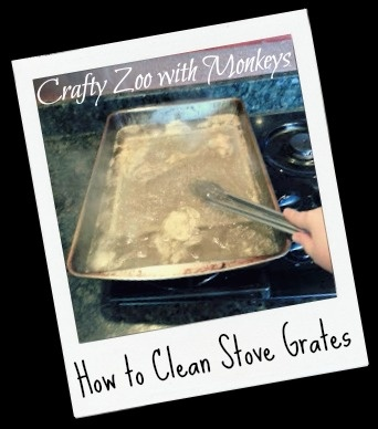 how to clean stove top grates without ammonia