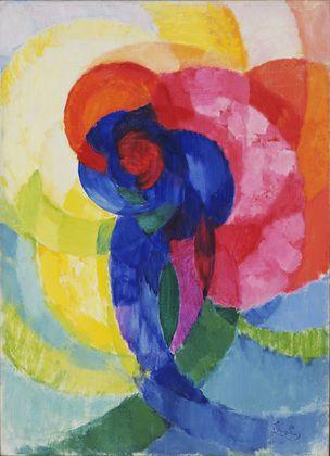 """František Kupka. Red and Blue Disks. 1911? (dated on painting 1911-12)...inspiration for """"Color Sphere"""" October 2012"""