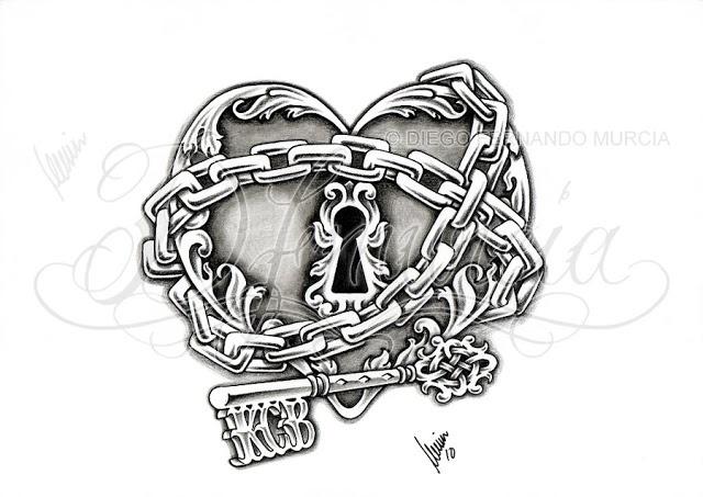 Heart Lock Tattoos Zimbio