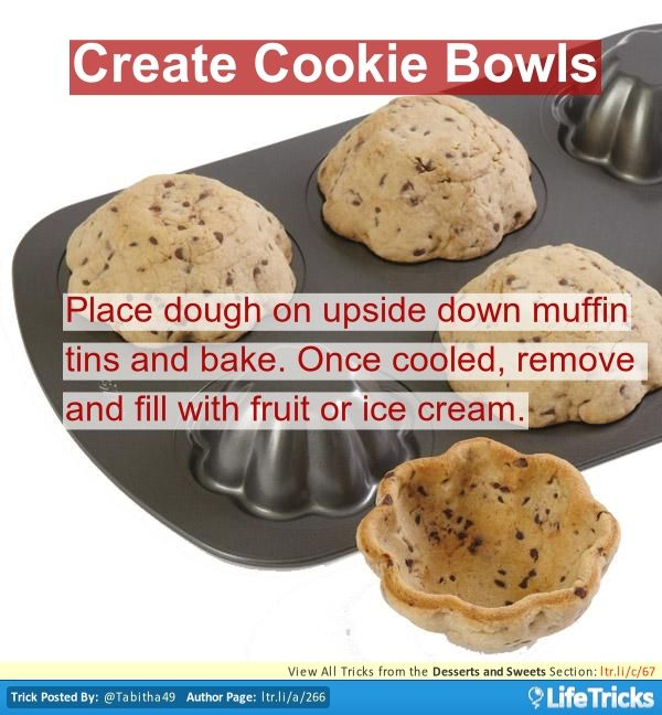 Desserts and Sweets - Create Cookie Bowls