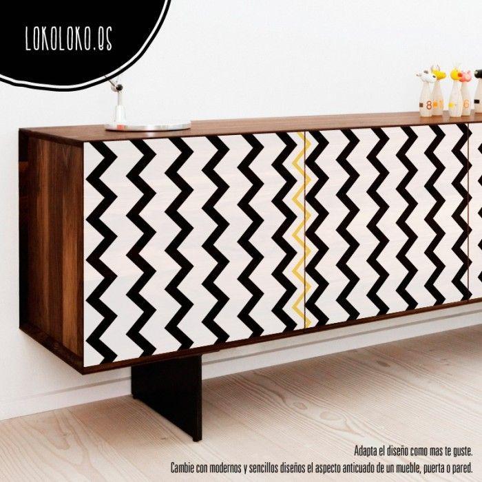 Geometría limpia para redecorar muebles #lokolokodecora