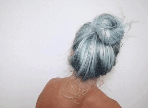 Silver blue hair
