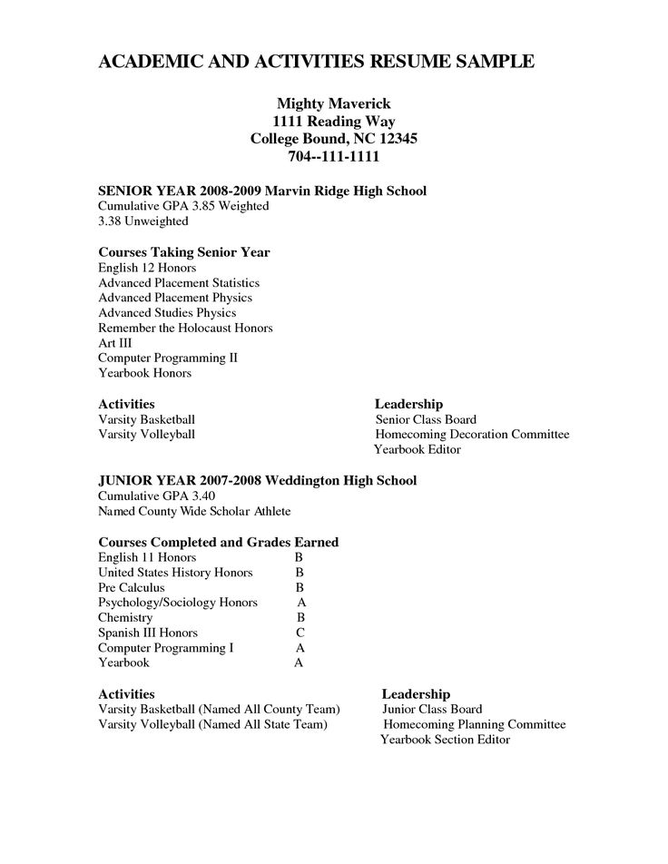 college resume examples for high school seniors student students - editor resume sample