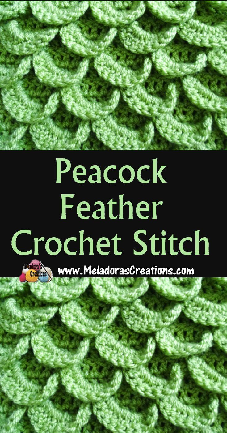 Peacock Feather Crochet Stitch - Free Crochet Pattern and Tutorial ...