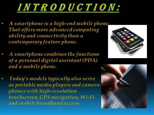 PPT on SMARTPHONES |authorSTREAM | ppt | Smartphone