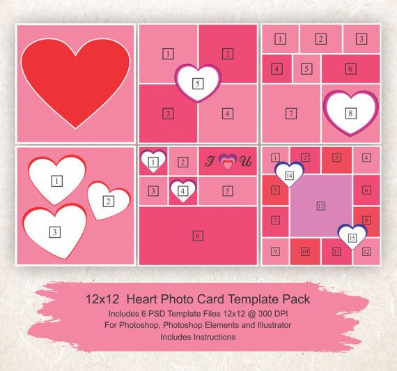 25 best Valentines Day Card Templates ideas – Valentine Heart Cards