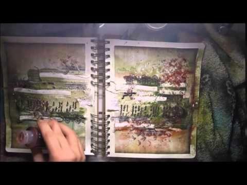 """""""Lucky"""" art journal spread created by Marta Łapkowska for Finnabair Creative Team"""