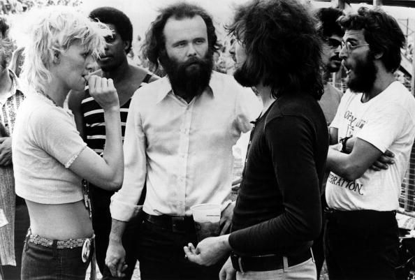 Delaney and Bonnie Bramlett chat with Garth Hudson from The Band at... News Photo 84190845