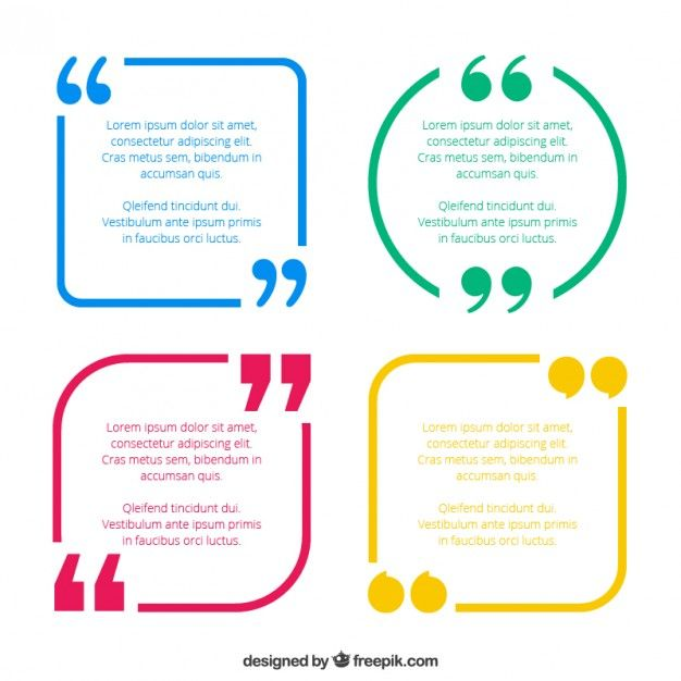 Quotes template pack  Free Vector
