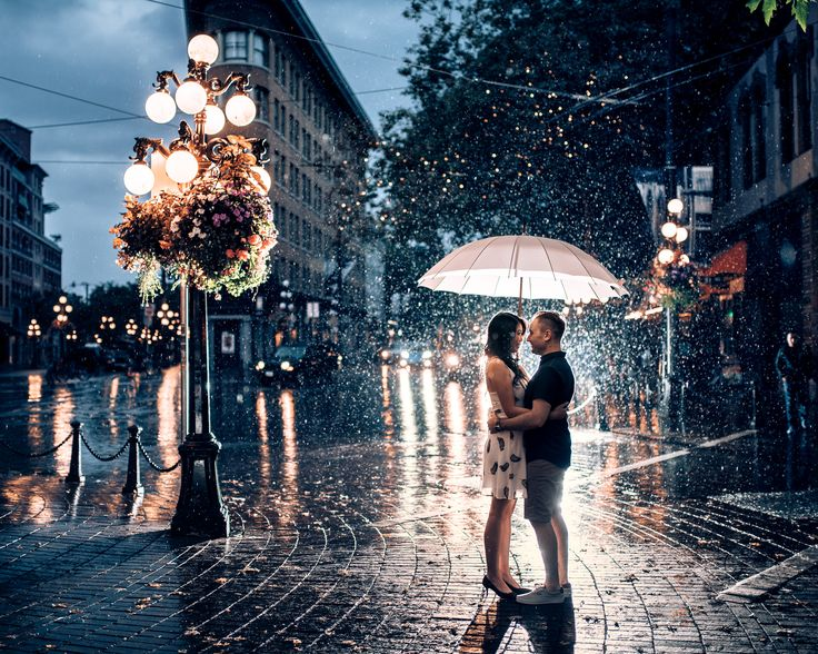 gastown rain wedding photos