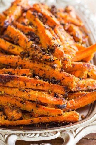 OMG!!!!! do I hear a yum? Pesto Roasted Carrot Fries.